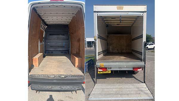 Box and Transit vans