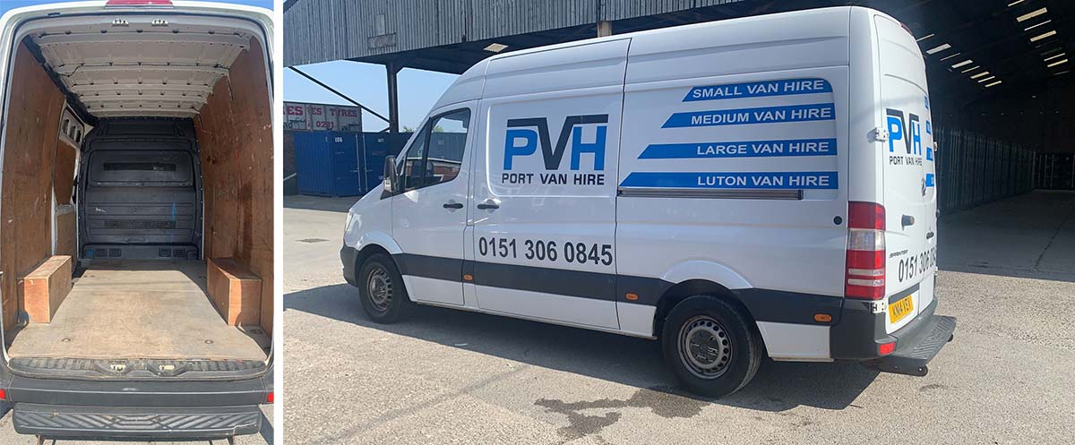 Hire a van to move house.